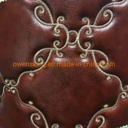 人気株PVC PUのレザーソファーまたはカー・シートまたは靴または袋または衣服または壁ののための柔らかい刺繍されたPU PVC総合的な革/Furnitureの革
