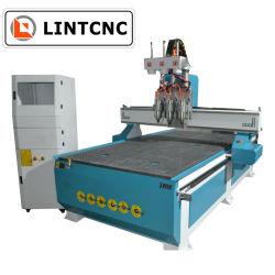 Jinan bois Atc pneumatique CNC Router 1325 machine à sculpter le bois de coupe de la faucheuse pour porte en bois contreplaqué MDF