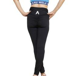 Le design de mode d'usure de Yoga de gros de rides de la hanche serré des jambières d'entraînement pour dame
