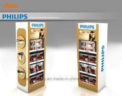 Suporte de monitor de piso de papel de retalho Visor de papelão para promoção