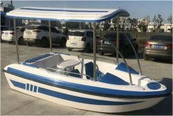 4人販売のための電気ボート水公園のボート3.5メートルのガラス繊維の