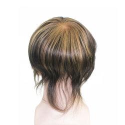 Мужской волос материал Цвет красителя - полностью изготовленный на заказ<br/> французского кружева