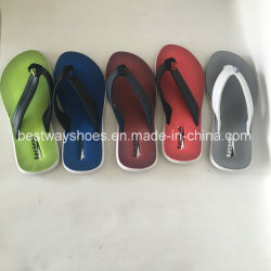 Novo design com sapatas deslizantes Flip-Flops Almugue Couro PU