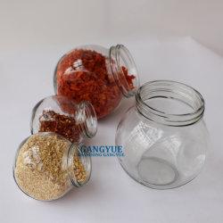 Tambor de planas de grado alimenticio vaso Jarra de cristal de la forma de almacenamiento de alimentos dulces especias Vegtables secos conservas de frutas