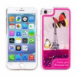 Блестящие цветные лаки LED жидкость преодоление зыбучих песков случае мобильного телефона аксессуары для iPhone 8