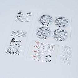Étiquette de l'impression couleur transparent clair autocollant Peel Off étiquette autocollant amovible