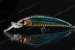 Richiamo di plastica di pesca della qualità superiore--Steamlined Minnow con Holographic Finish (HMMA100)