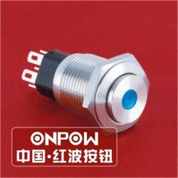 Onpow 16mm Schakelaar van de Drukknop van het Metaal (gq16-KH-11D/J/R/12V/S)