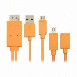 Los cables de la MMC, Micro USB al cable HDMI; Conveter para Samsung Galaxy S4 S3, y más