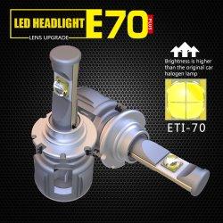 X70 60W 12000LM D1D2, D3, D4 12V 24V LED Farol de alta potência da lâmpada automático