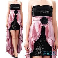 De roze Avondjurken Prom 2013 van Appliqued van de Lovertjes van het Satijn Voor Korte Achter Lange