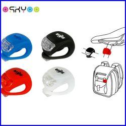 La luz de advertencia LED impermeable de silicona para bicicleta de la luz de seguridad