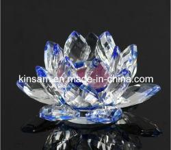 結婚式の装飾(KS27038)のための水晶ロータス水晶ロウソク
