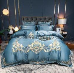80d 시트와 베갯잇 또는 가정 직물 또는 침구 고정되는 베개 직물 침대 시트 침대 조정 베개 상자 깃털 이불 덮개 세트 자수 특대 100% 이집트 면 침대 시트