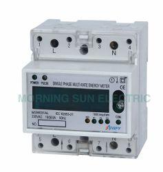 Medidor de energía monofásico electrónico Multi-Rate carril DIN Activo