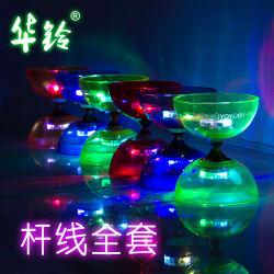 Yoyo jouets Diabolo Set professionnel haute vitesse allume les bougies de briller 3 roulements Triple jongler avec sac de chaîne