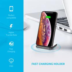 Support de recharge sans fil 10W 2 bobines de charge rapide de support téléphone Logo personnalisé Support de charge sans fil de téléphone mobile