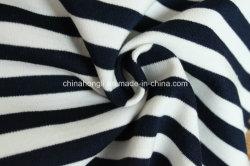 Haute qualité T/R 63/23/SP/4, 300gsm, de filés Dye Stripe Ponte-Roma pour vêtements