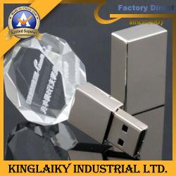 Новые сувенирные кристально чистый диск для перьев USB (KUSB-002)