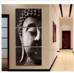 Decorativa de pared cara Buda Óleo sobre lienzo (BU-019)