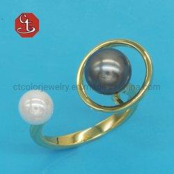 2020の粋な様式の開いたリングの女性のシェルの真珠の幾何学的なリングの方法真鍮の結婚式夕食の宝石類