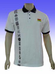 Conçu broderie logo blanc Polo Shirt