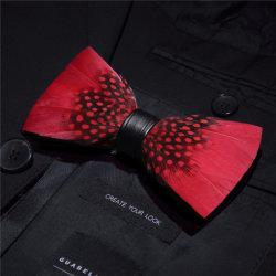 Фабрику 100% Hand-Made природных пуховые+PU мужчин бабочки верхнего ряда