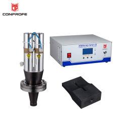 Alta eficiencia de trabajo manual automática ultrasónica Earloops Punteadora Máquina de soldar piezas de repuesto
