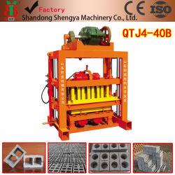 Qtj4-40B يدوي اضغط على آلة الطوب الخرسانة مع خلاط Jq350