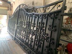 Puerta corrediza automática de compuerta metálica||Puerta de acero galvanizado|Garden Gate|valla de la puerta de hierro forjado Residencial Puerta de Entrada/Jardín/casa