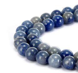 Azul natural Venturina redondo liso de piedras preciosas perlas sueltas pueden hacer joyas pulseras y collares y una variedad de joyas de moda 4mm - 14mm