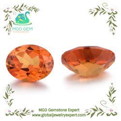 MGOの宝石の卸売の円形の華麗なナシの長方形のOctangleスクエアは宝石用原石#55カラー宝石類のための総合的なオレンジサファイアの鋼玉石を逃れさせた