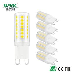G4 G9 LED Birnen, 3W 350lm, kühle Halogenbirnen gleichwertiges Dimmable des Weiß-6000K 40W keine Strahlungswinkel-energiesparenden Glühlampe-Lampen des Aufflackern-360&Deg für Hauptlicht