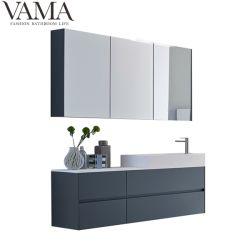 Бухарест 1500 мм современном итальянском темно-синяя туалетный столик в ванной комнате с зеркалом шкаф с легких LB-001