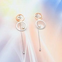 925の女性の女性のための銀製の耳のたがのイヤリングのシェルの真珠の方法宝石類の宝石類