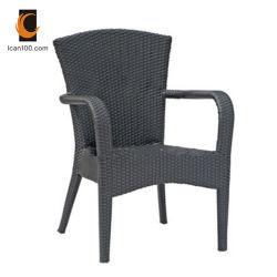 Résistant aux rayures Hotel Restaurant mobilier moderne en plein air en plastique en rotin chaise de salle à manger de canne à sucre (RC-06010)