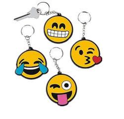 Kundenspezifisches nettes lächelndes Gesicht weiches Belüftung-Schlüsselketten-Plastik-Belüftung-und -metallmünzen-Halter Keychain Förderung kundenspezifisches weiches Gummikurbelgehäuse-Belüftung Keychain