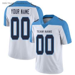 Vestiti bianchi su ordinazione della parte superiore di gioco del calcio di ritorno al passato collegati Wholasale di marca dei titani