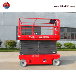 De gemotoriseerde Elektrische xe-Reeksen Xe160W van de Lift van de Schaar met het Brede Platform van het Werk