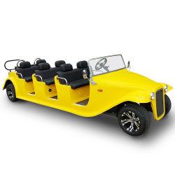 럭셔리 저속 전기 8 시트 리조트 클럽 카 일렉트릭 차량 빈티지(DN-8D)