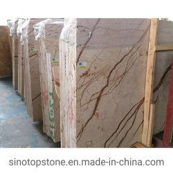 Natürlicher Poliertopaz-goldener Marmor für Küche/Badezimmer/Wand/Bodenbelag/Jobstepp/Fliese/Umhüllung