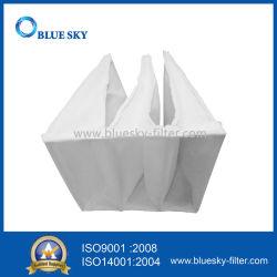610*610*380mm F5 Eficiência Nonwoven saco de filtro de bolso para sistema de HVAC