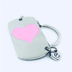 Персонализированный Логотип печати любовь цепочки ключей свадебный подарок
