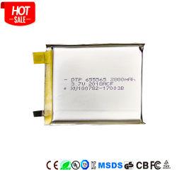Potência total de células da bateria de polímero DTP655565 3.7V 2800mAh Lipo Baterias com certificado de Kc