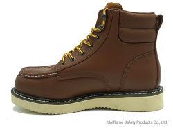 Le travail de la sécurité de l'acier élégant Goodyear EVA Bottes de sécurité unique semelle PU UFC016 en cuir véritable de l'industrie industriel Steel Toe chaussures de travail de la sécurité pour les hommes