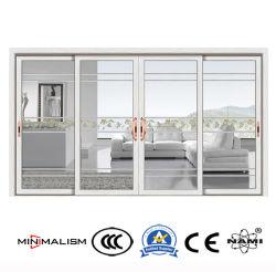 Matériau de construction de l'intérieur Profil en aluminium///aluminium Porte coulissante Porte en verre coulissante