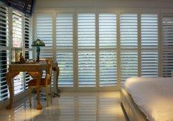 솔리드우드 플랜테이션 목재 창문 셔터