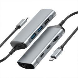 7 sur 1 USB3.1 Type C pourHDMI+VGA+USB3.0*3+USB C*2 (PD+DATA)