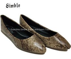 Les femmes Lady Fashion snack décontracté PU Chaussures ballerine plate supérieure