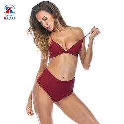 Mode Frauen Unterwäsche Puls Größe Hoch Taille Bh-Set Bikini